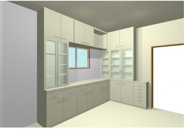 キッチン収納      3D図面