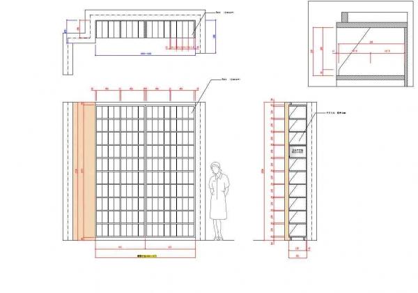 カルテ棚製作図面
