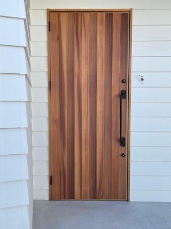玄関ドア 米杉 レッドシダー プッシュプル
