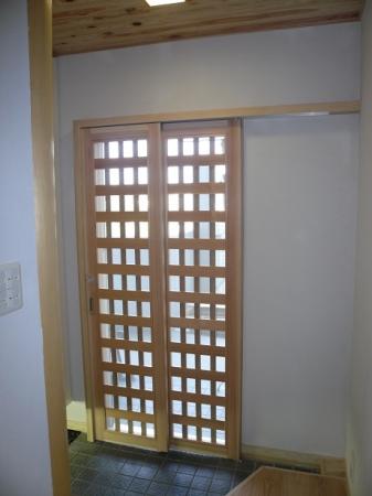 玄関木製網戸